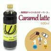 コーヒー キャラメル シロップ 【 保存料 & 着色料 無添加 】 キャラメルラテ ベース 600ml 瓶