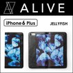 ALIVE iPhone 6Plus CASE (JELLYFISH) iPhone 6Plus ケース バインダータイプ 手帳型