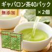 国産ギャバロン茶2g×40パック×2個 ギャバ茶 ガンマアミノ酪酸 手軽な糸付きティーバッグ ティーパック 自然健康社
