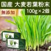 国産・大麦若葉粉末100g×2個 無添加 100% 青汁スムージーに 野菜不足の方に 無農薬