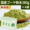 国産ゴーヤ粉末 380g×4個 沖縄産 青汁 サプリメント 無添加 まるごと 丸ごと 100% ゴーヤー パウダー 苦瓜 にがうり ジュースに