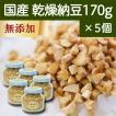 国産・乾燥納豆170g×5個 国産大豆使用 フリーズドライ ふりかけ 無添加 ナットウキナーゼ 納豆菌 ポリアミン ポリポリ 安全 なっとう