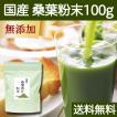 送料無料 国産・桑葉青汁粉末100g 無添加 100% 青汁スムージーに 野菜不足、食物繊維不足に