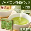 送料無料 国産ギャバロン茶2g×40パック×2個 ギャバ茶 ガンマアミノ酪酸 手軽な糸付きティーバッグ ティーパック 自然健康社