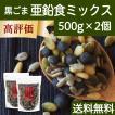 GOMAJE 亜鉛食ミックス 大袋 500g×2個 ゴマジェ 黒ごま 松の実 かぼちゃの種 送料無料