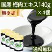梅肉エキス 140g×4個 梅 エキス ペースト 無添加 100% 和歌山産 送料無料