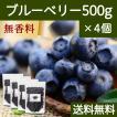 ブルーベリー500g×4個 ドライフルーツ チャック付き袋 送料無料