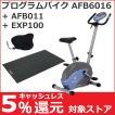 フィットネスバイク アルインコ プログラムバイク AFB6016 家庭用 純正フロアマット(EXP100)・純正サドルカバー(AFB001) お買得セット おすすめ