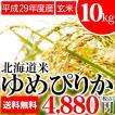 ギフト 贈り物 米 ゆめぴりか 10kg(5kg×2袋)(玄米)【平成29年度/単一原料】 10キロ 北海道産 北海道米
