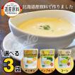 メール便 送料無料 食品 クレードル興農 北海道産 選べるスープ 3袋 / プレゼント コーンスープ 北海道 お試し