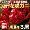 敬老の日 ギフト 2017 花咲ガニ 900g × 3尾 希少な 花咲ガニ 北海道産 蟹