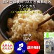平成29年産 新米 お試し版 JAS認定 自然農法 無農薬 有機米 コシヒカリ 「水の精」 食用玄米 2kg (初回特別価格&送料無料)