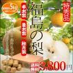 福島の 梨 特秀 5kg 送料無料 幸水梨 豊水梨 秋月梨 から選べる  敬老の日 フルーツ 果物 ギフト 残暑見舞