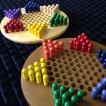 【2人から遊べる♪おしゃれな伝統ゲーム】木製チャイニーズチェッカー