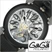 ガガミラノ腕時計 GaGaMILANO時計 GaGa MILANO 腕時計 ガガ ミラノ 時計 マニュアーレ MANUALE 48MM メンズ レディース ブラック GG-609201