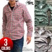 カジュアルシャツ 長袖 チェック柄 メンズ 815-16 全3色
