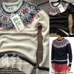 Eally Americans 求心柄 セーター メンズ ジャカード織 ノルディック柄 T214616-CR 全3色