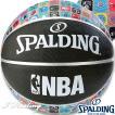SPALDING バスケットボール7号 NBAアイコンボール ブラック ラバー スポルディング83-649Z