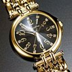 ペレバレンチノ 天然ダイヤモンドカット腕時計 ゴールド