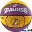 外用スポルディングバスケットボール7号 NBAロサンゼルス レイカーズ ラバー SPALDING83-156Z