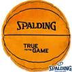 バスケットボール柄 SPALDINGラウンドボールクッション スポルディング12-001RND