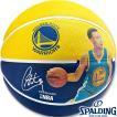 NBAステファン カリー ウォリアーズ プレイヤーボール バスケットボール7号ラバー スポルディング83-343Z