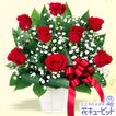 【12月の誕生花(赤バラ等)】赤バラのリボンアレンジメント