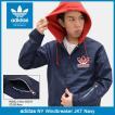 アディダス adidas ジャケット メンズ NY ウィンドブレーカー ネイビー オリジナルス(NY Windbreaker JKT Navy Originals 男性用 BQ0906)