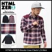 エイチティエムエル ゼロスリー HTML ZERO3 シャツ 長袖 メンズ ブルックス ライナー チェック(Brooks Liner Check L/S Shirt トップス)