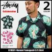 【6/26入荷予定】ステューシー STUSSY シャツ 半袖 メンズ Harumi Yamaguchi コラボ(stussy×Harumi Yamaguchi shirt 男性用 111924)