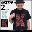 キックス ティー・ワイ・オー KIKS TYO Tシャツ 半袖 メンズ フラワー K(Kiks Tyo Flower K S/S Tee カットソー トップス LUISE ONO)