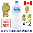 水 2L×12本 ミネラルウォーター 金賞 ICEFIELD アイスフィールド 軟水 カナダ天然氷河水