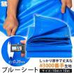 ブルーシート 厚手 防水 ♯3000 ブルー 青 ハトメ付き 豪雨対策 雨対策 台風対策 災害用 10m×10m アウトドア レジャー