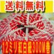 紅白紐(紅白ロープ)太さ12ミリ 300メートル巻き 1巻売り
