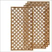 天然木製ラティスフェンス 180×90cm格子ブラウン4枚組 フェンス
