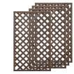 天然木製ラティスフェンス 150×90cm格子ダークブラウン4枚組
