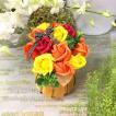 色が選べるキュートなもこもこシャボンフラワーフラワーアレンジ お祝いやプレゼント・ギフト・季節の行事・贈り物に 送料無料
