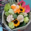 色が選べるおまかせ花束(ラウンドブーケ) 生花店の季節のおまかせ花束ブーケ お祝いやプレゼント・ギフト・季節の行事・贈り物に 送料無料