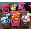6色から選べるシャボンフラワーブーケ 選べる容器付き ギフト プレゼント インテリア 誕生日 贈り物 御祝 送料無料
