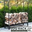 送料無料 薪ラック SunRuck 薪棚 薪の保管 乾燥 ログラック 暖炉 小型 コンパクト 省スペース キャンプ たき火 SR-5631F【冬物処分セール】