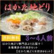 鍋 ギフト 送料無料 はかた地どり水炊きBセット(3〜4人前) お取り寄せ グルメ 博多 九州