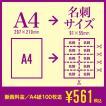 A4→名刺サイズへ断裁|紙断裁サービス