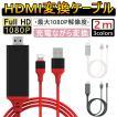 Lightning HDMI 変換ケーブル Lightning Digital AV to HDMI 1080Pアダプタ iphone 映像出力ケーブル 設定不要 音声同期出力 IOS14対応