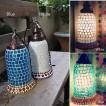 【送料無料】モザイクランプ ステンドグラスランプ 間接照明 照明ライト モロッコスタイルランプ 吊り下げタイプ