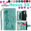 LG Google Nexus 5X 手帳型ケース 少女 花 猫 鳥Nexus 5Xケース 手帳型 二つ折りPUレザーネクサス5X ケース 手帳型 レザー 花柄