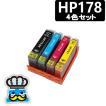 プリンターインク HP HP178 4色セット 互換インク 対応プリンタ: Photosmart-6521|6520|5520|4620|3520|B109A|6510|5510|3070A|C310c|B109N