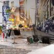 輸入壁紙 だまし絵 フリース不織布クロス マンハッタン風景写真 ドイツ製/XXL4-008 Times Square タイムズスクエア 368cm×248cm 北欧