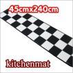 キッチンマット 白黒市松模様 東リ クッションフロア 約45cmX240cm