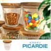 ■在庫限り・入荷なし■DURALEX デュラレックス PICARDIE ピカルディ 250ml グラス+木ブタセット ( キャニスター 保存容器 調味料容器 )