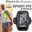 iPhone6s iPhone6  アームバンド カバー ウォーキング ランニング ジョギング スポーツフィット ブラック  アイフォン ケース belkin